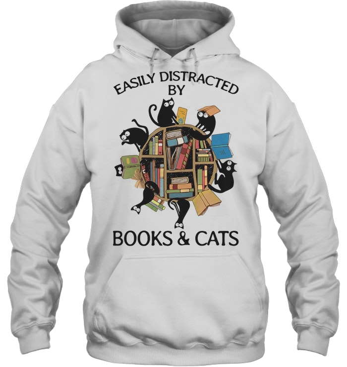 Easily Distracted By Books And Cats men