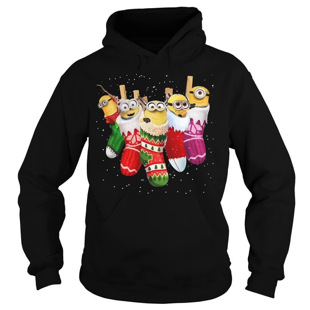 Minion Christmas ugly hoodie